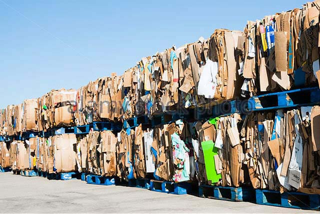 Recycling cardboard to reprocess