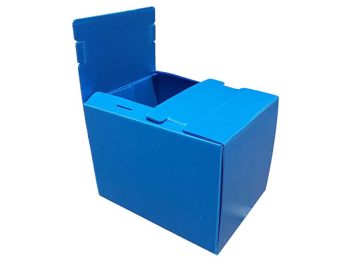 One side locked top flap reusable box