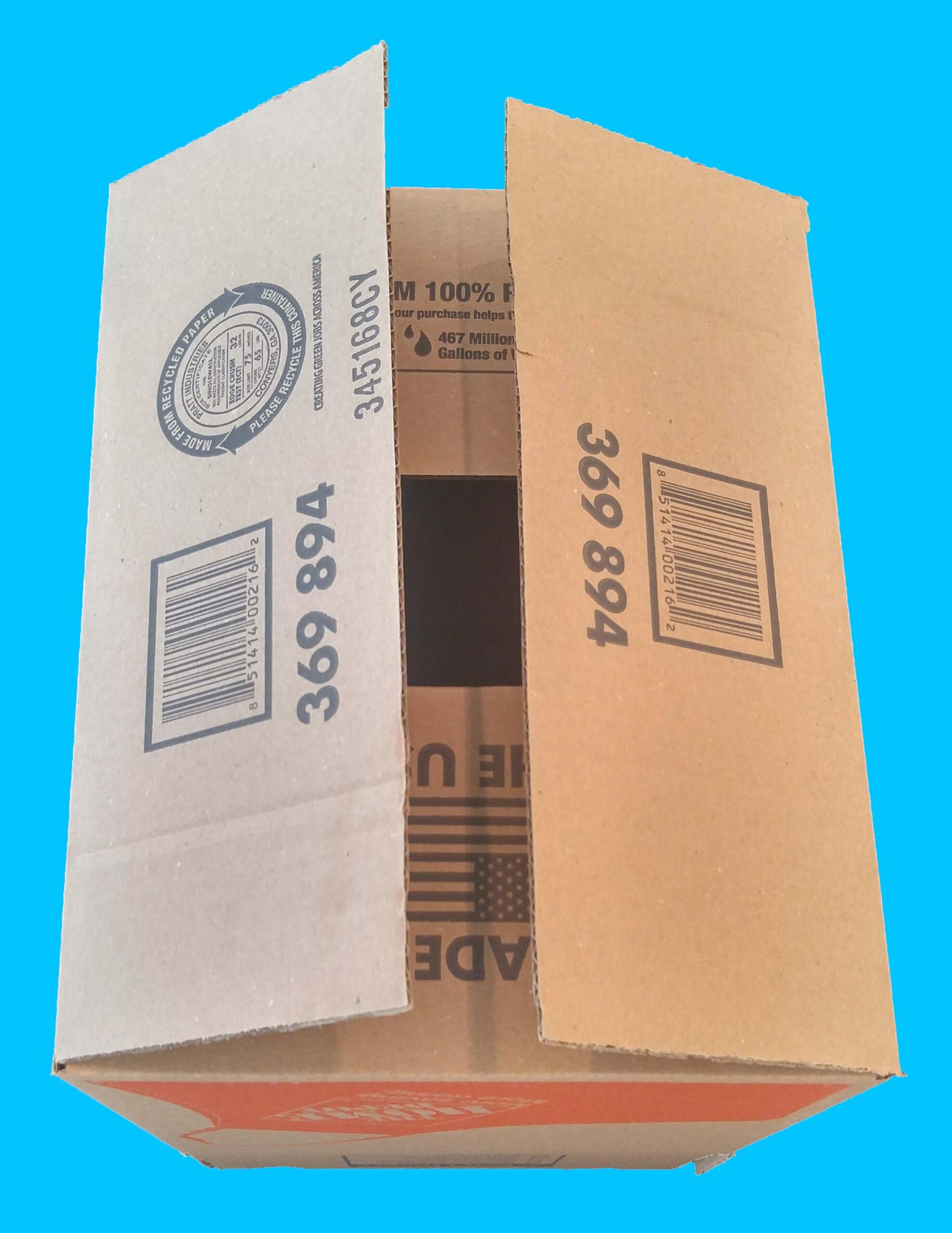 Cardboard box bottom need to close