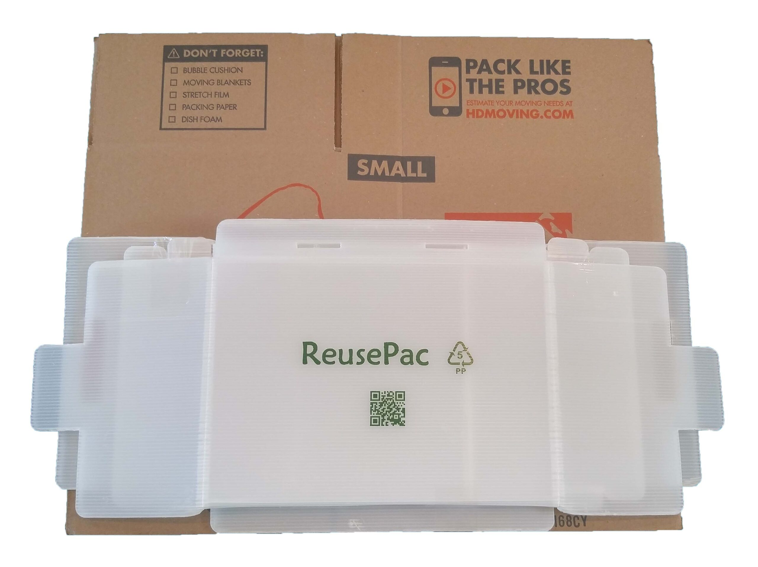 Reusable box collapse to small size