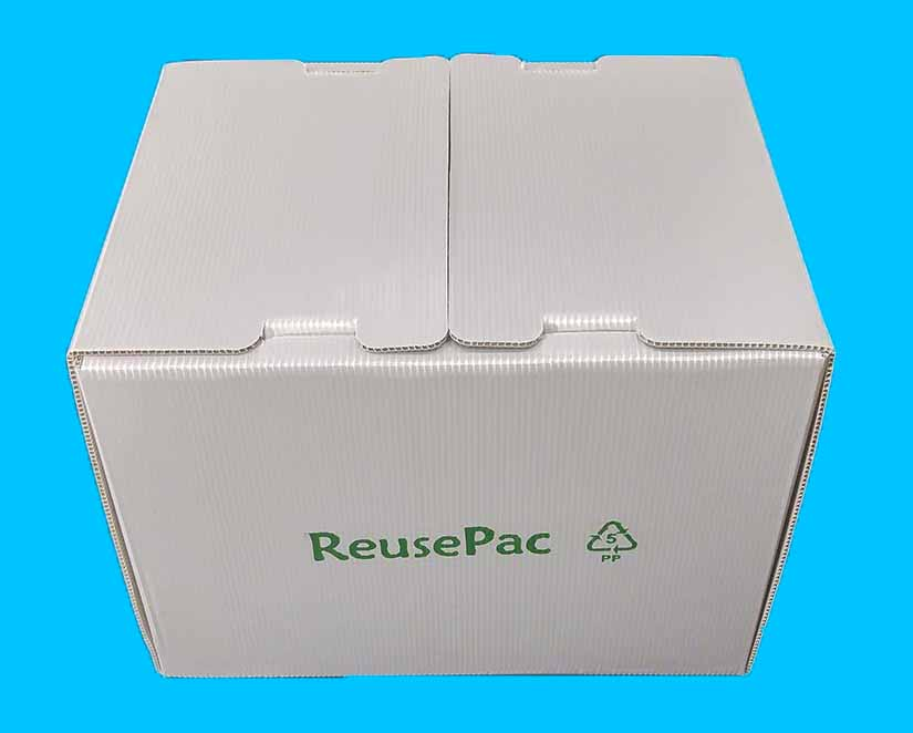 ReusePac reusable boxes with innovative flap interlocks