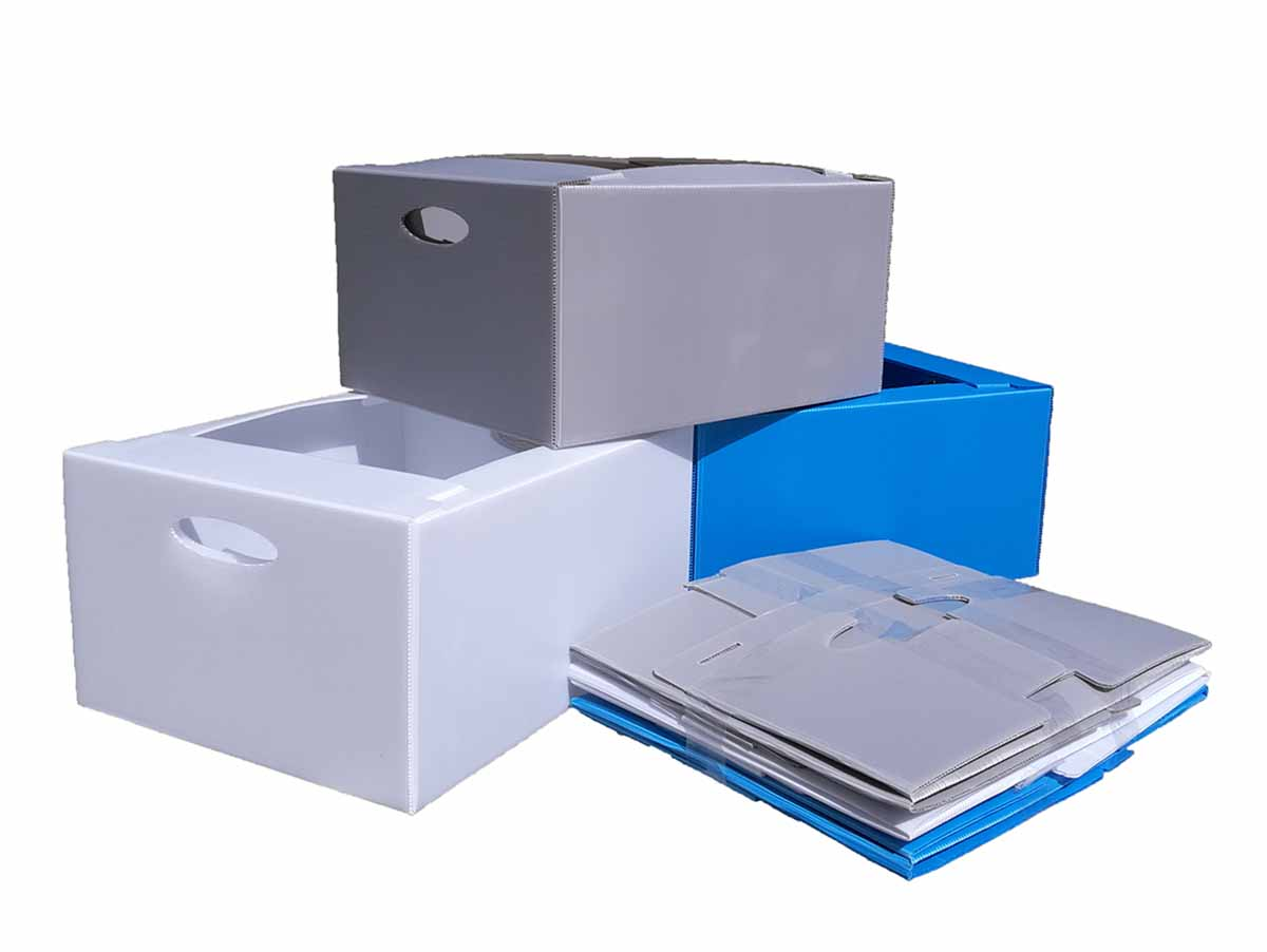 Reusable tote boxes vs three collapsed pack